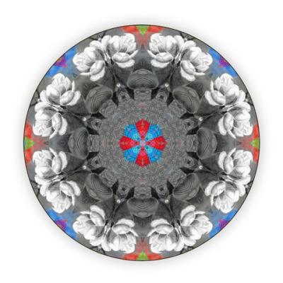 Костер (подставка под кружку) абстрактные акварельные цветы