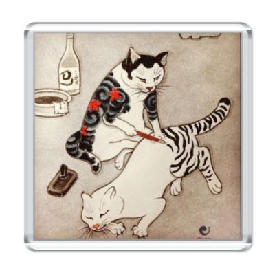 Магнит   Tatttoo Cats