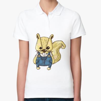 Женская рубашка поло Белка