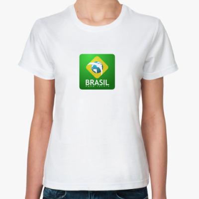 Классическая футболка Brasil. Едим тусить