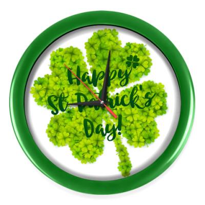 Настенные часы Happy St. Patrick's Day!