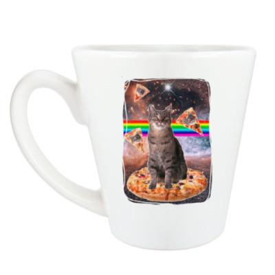 Чашка Латте Космический кот