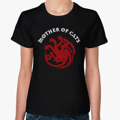 Женская футболка Мать кошек