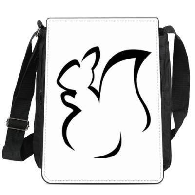 Сумка-планшет Черная белка