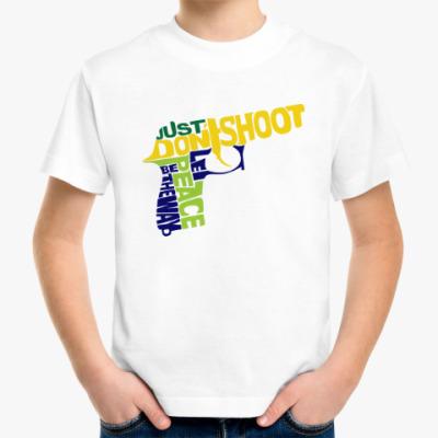 Детская футболка Не стрелять - путь к миру