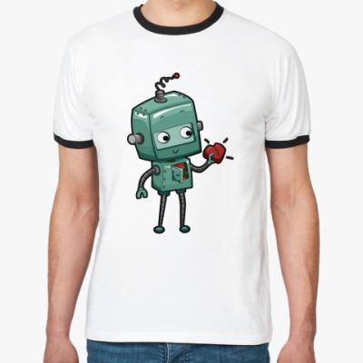 Футболка Ringer-T Робот с сердцем