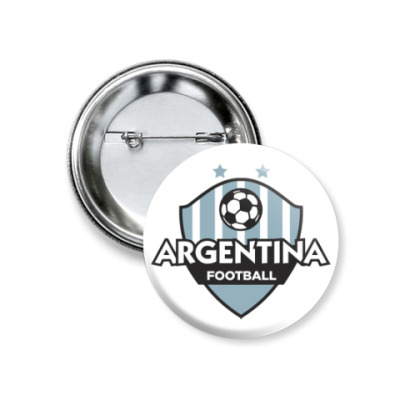 Значок 37мм Футбол Аргентины