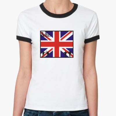 Женская футболка Ringer-T Битлз