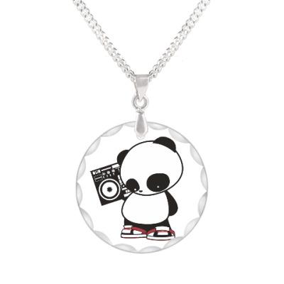 Кулон Панда с магнитофоном