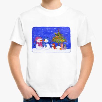 Детская футболка Добрые снеговички