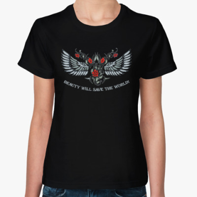 Женская футболка Красота спасет мир
