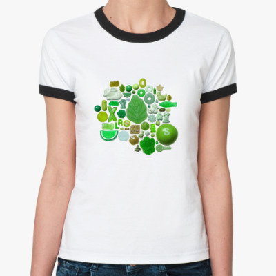 Женская футболка Ringer-T 'Конфеты'