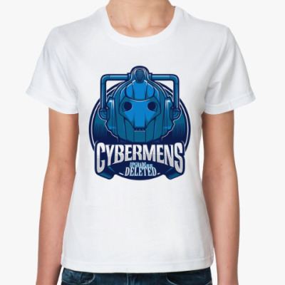 Классическая футболка Кибермен (Доктор Кто)