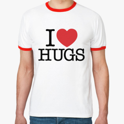 Футболка Ringer-T I love HUGS