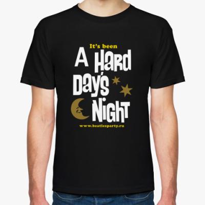 Футболка Hard Day's Night (муж. цвет.)