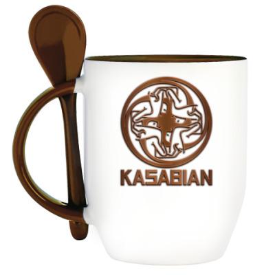 Кружка с ложкой Kasabian