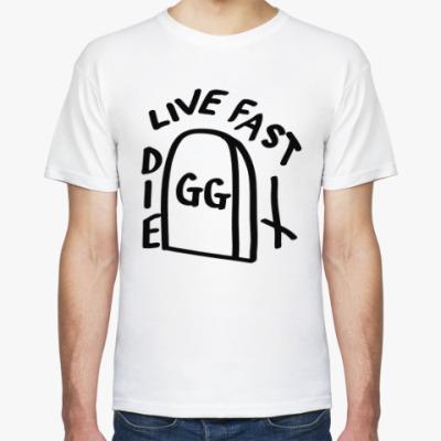 Футболка GG Allin: Live fast die