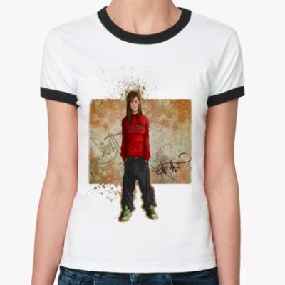 Женская футболка Ringer-T  Неформалка