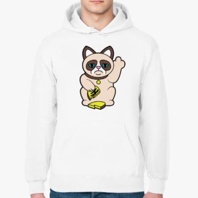 Толстовка худи Tard Grumpy Cat Maneki Neko