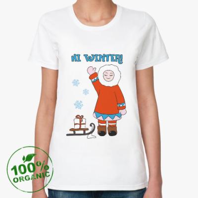 Женская футболка из органик-хлопка Hi Winter: зима, которая всегда с тобой
