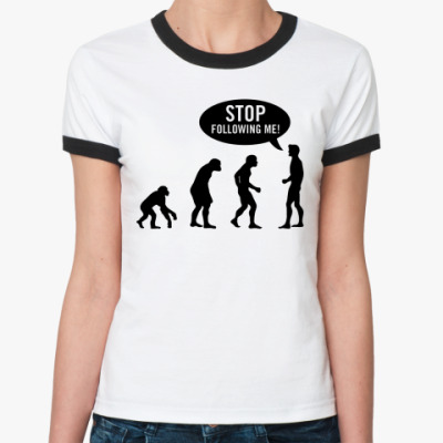 Женская футболка Ringer-T Evolution