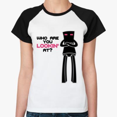 Женская футболка реглан Enderman
