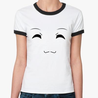 Женская футболка Ringer-T 'Emotions - Happy'