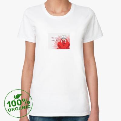 Женская футболка из органик-хлопка InuYasha (Инуяша)