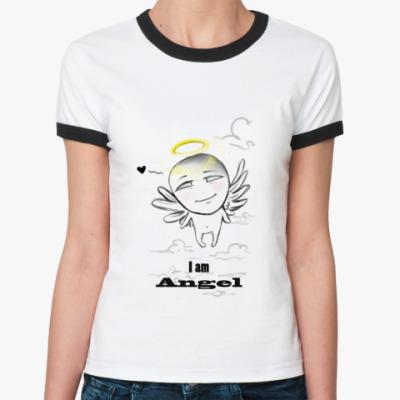 Женская футболка Ringer-T 'I am Abgel'