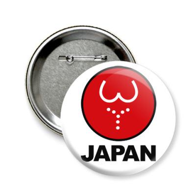 Значок 58мм Японская леди