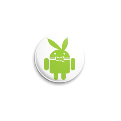 Значок 25мм Андроид плейбой
