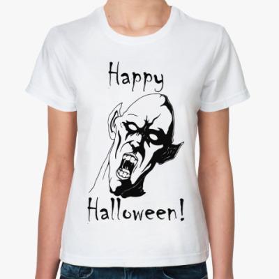 Классическая футболка Happy Halloween!