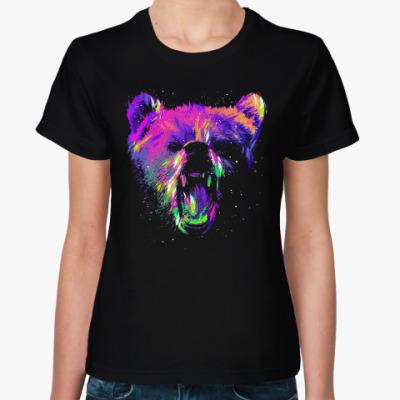 Женская футболка Абстрактный медведь
