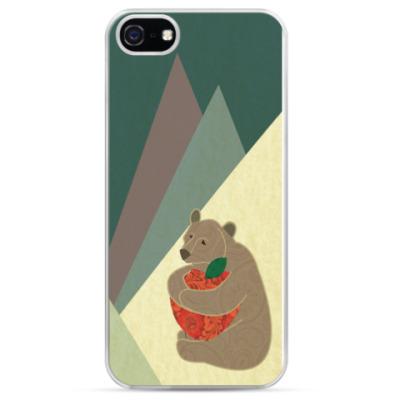 Чехол для iPhone Мишка и горы