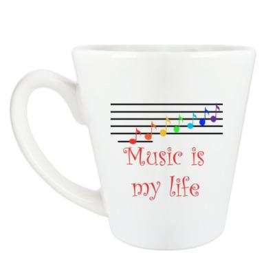 Чашка Латте 'Music'