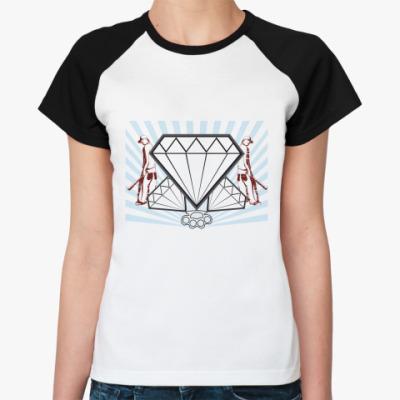 Женская футболка реглан   Караты