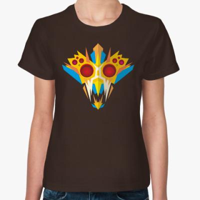 Женская футболка Ритуальная маска воина
