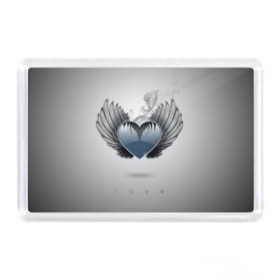 Магнит Сердце с крыльями