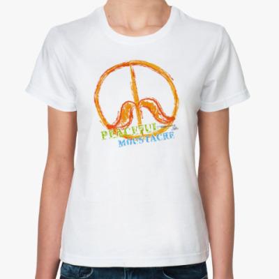 Классическая футболка Peace Moustache