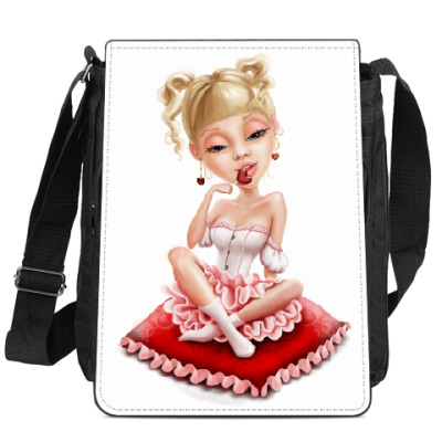 Сумка-планшет Сладкая блондиночка