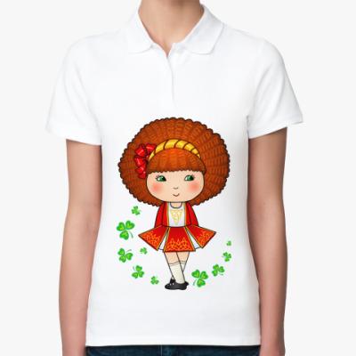 Женская рубашка поло Ирландская девочка