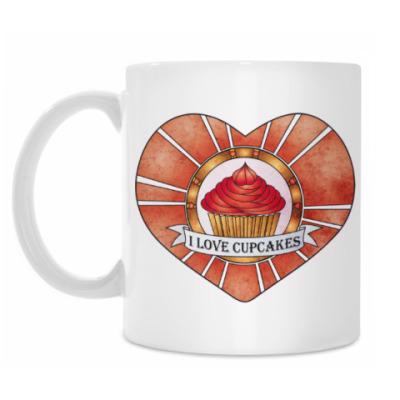 Кружка I love cupcakes