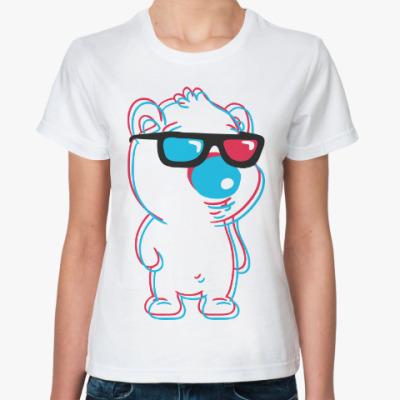 Классическая футболка Белый мишка