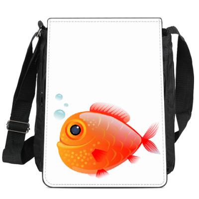 Сумка-планшет Довольная рыба