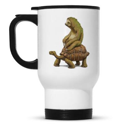 Кружка-термос Ленивец на черепахе