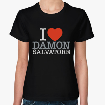 Женская футболка I Love Damon