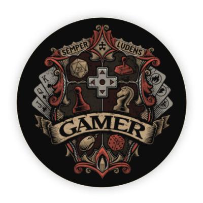 Костер (подставка под кружку) Герб Геймера Gamer
