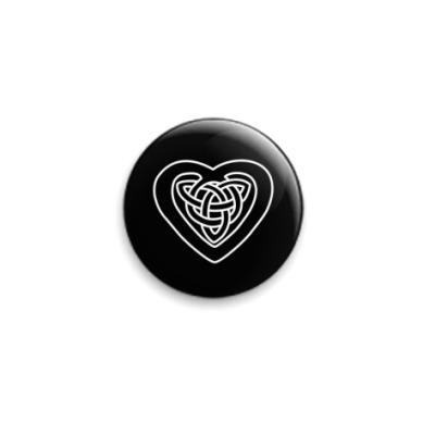Значок 25мм  25 мм, Celt Heart