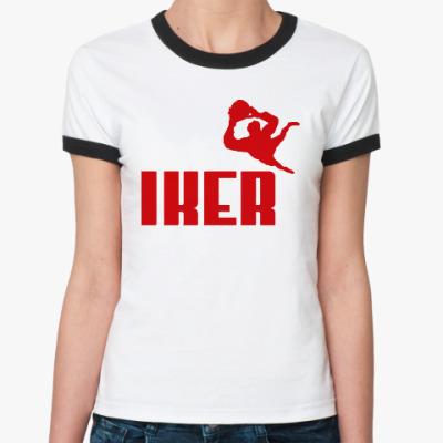Женская футболка Ringer-T Iker Casillas