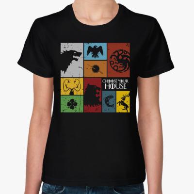 Женская футболка Игра престолов.Дома